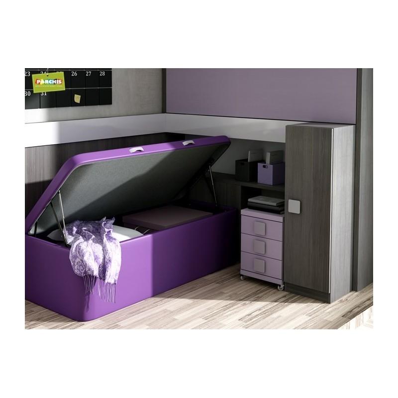 Literas fijas camas bloque for Dormitorio matrimonio cama canape