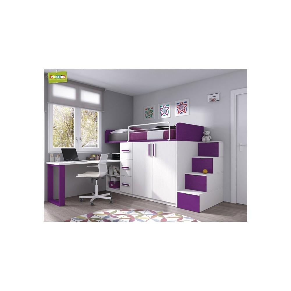 Literas fijas camas bloque for Catalogo de muebles juveniles