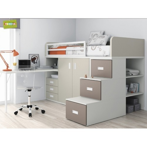 Camas tipo tren literas fijas mueblesliterasenangulo for Catalogo de muebles juveniles