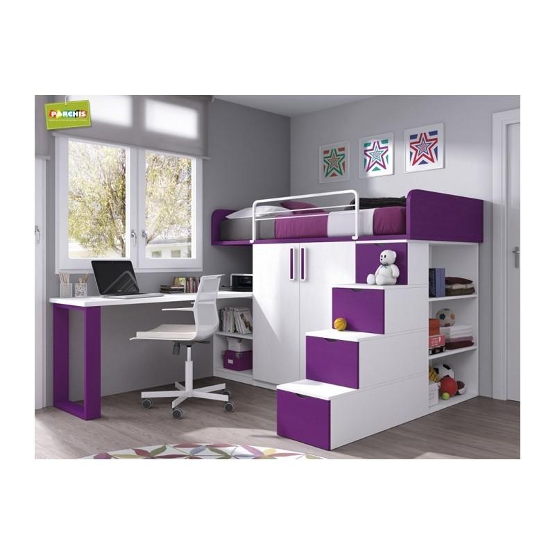 Literas fijas camas bloque - Dormitorios modulares juveniles ...