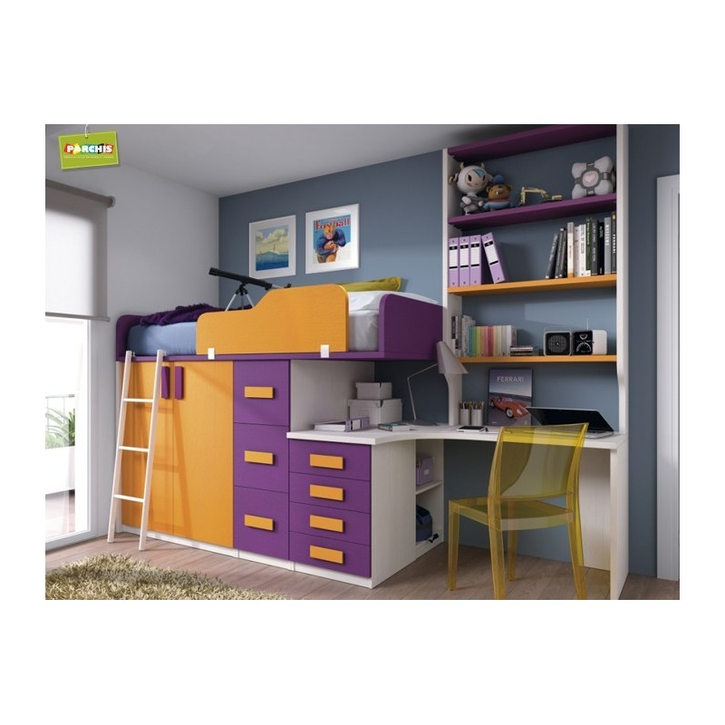 Muebles juveniles con camas tipo tren venta en madrid y toledo - Dormitorios juveniles dobles ...