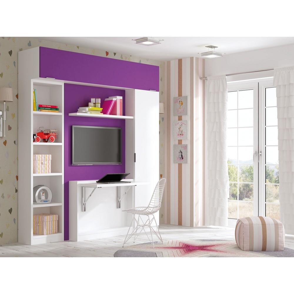 Dormitorios Con Camas Abatibles Dormitorios Individuales  # Muebles Nido Matrimonio