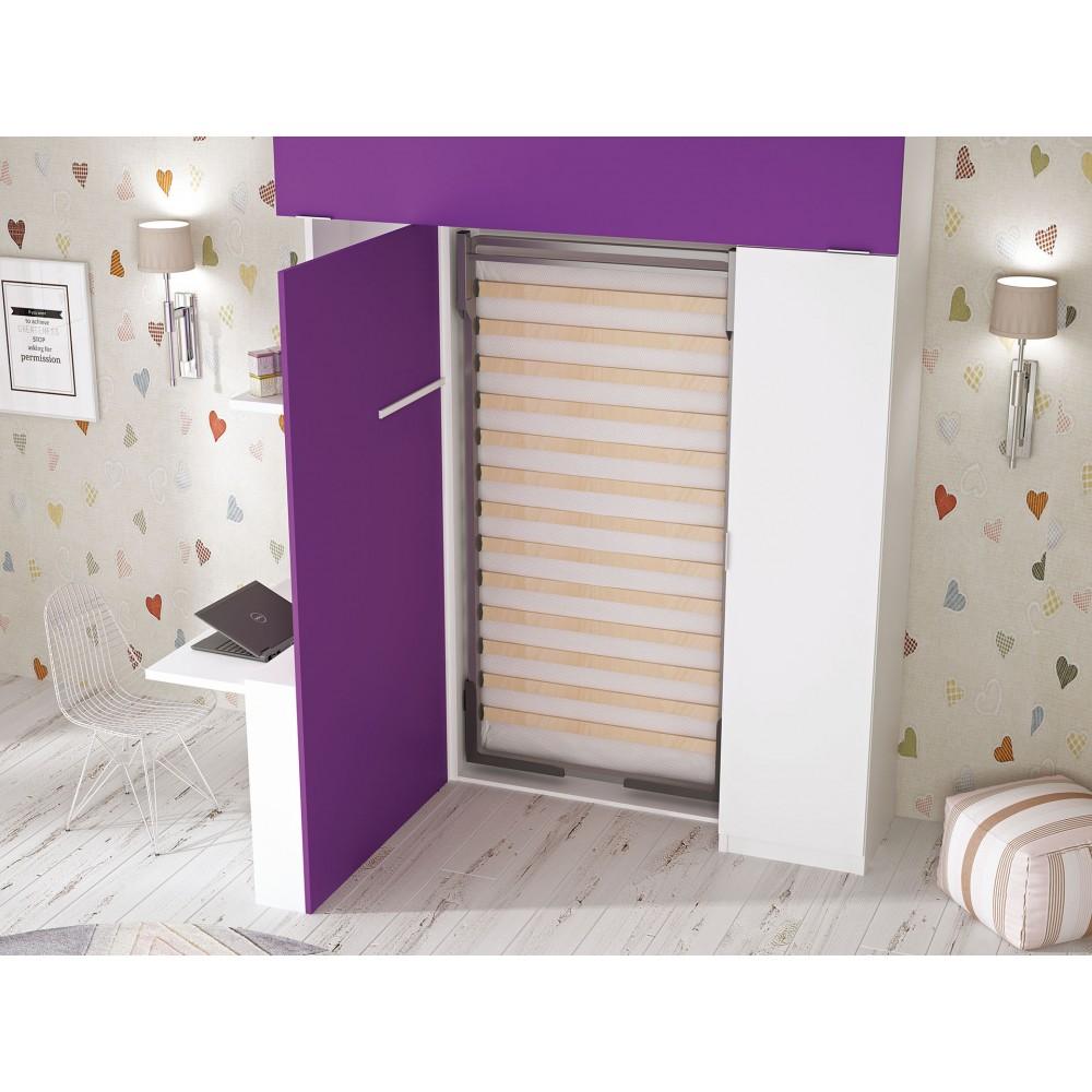 Camas abatibles econ micas mueble cama horizontal de for Habitaciones juveniles economicas