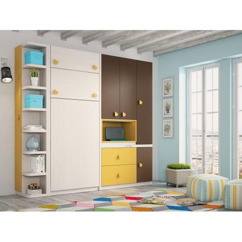 Dormitorios con Camas Abatibles Horizontales con Armario