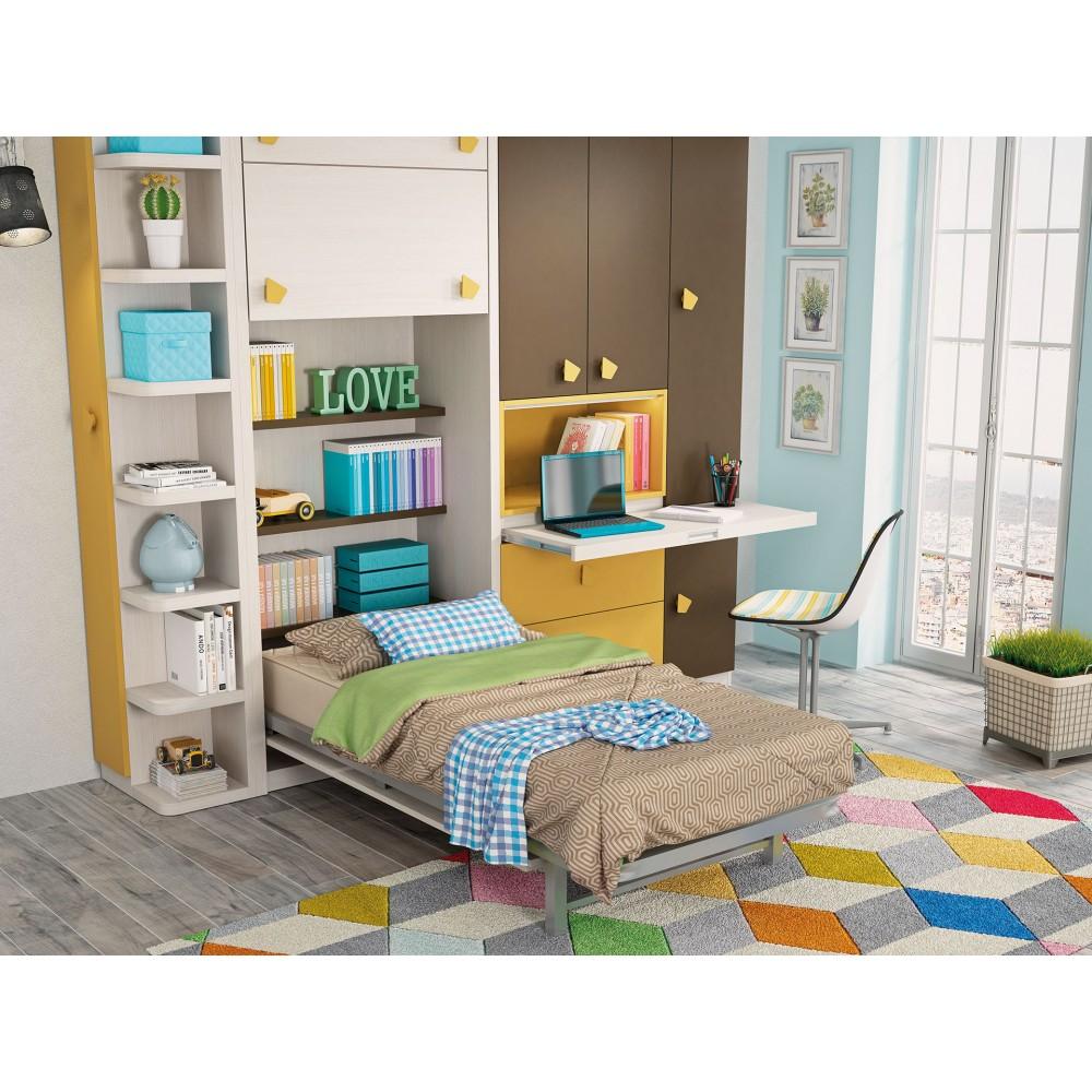 Camas abatibles verticales madrid camas abatibles para for Dormitorios juveniles sin armario