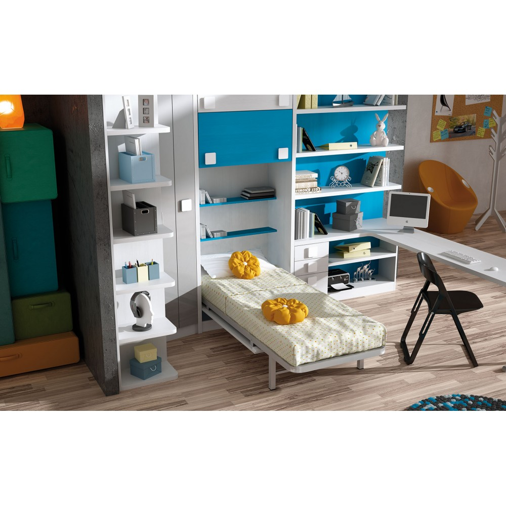 Dormitoriosjuvenilesconcamasabatiblesenhorizontal - Dormitorios juveniles con camas abatibles horizontales ...