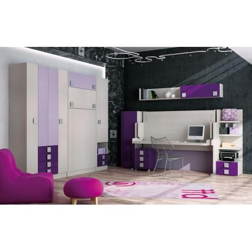 Dormitorios con camas abatibles dormitorios individuales for Habitaciones juveniles completas baratas