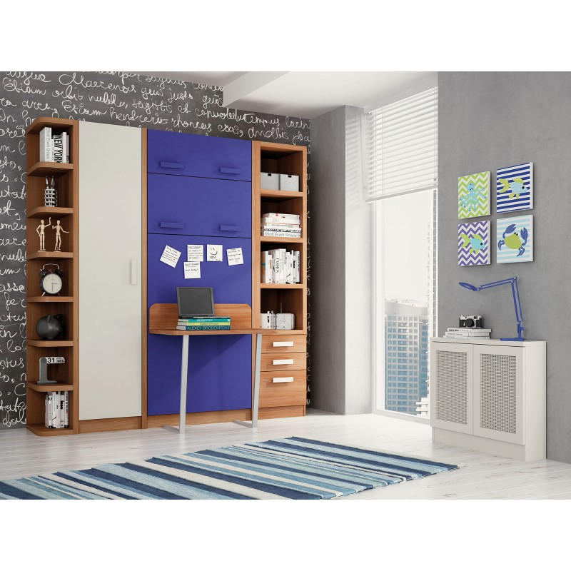 Literas camas abatibles plegables muebles for Dormitorios juveniles abatibles