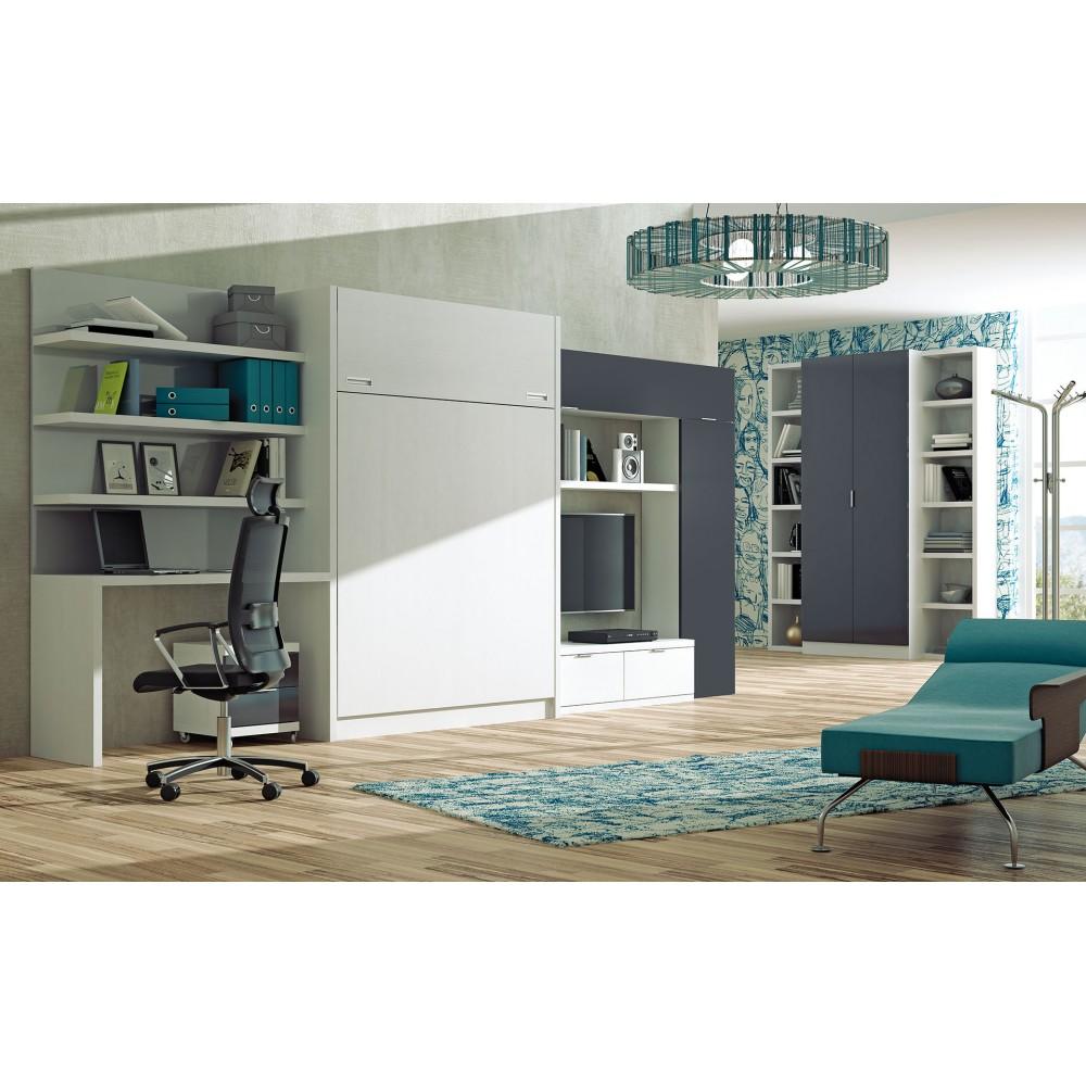 Habitacion Cama Abatible Finest Cama Abatible Joy With Habitacion  ~ Camas Abatibles Horizontales Ikea