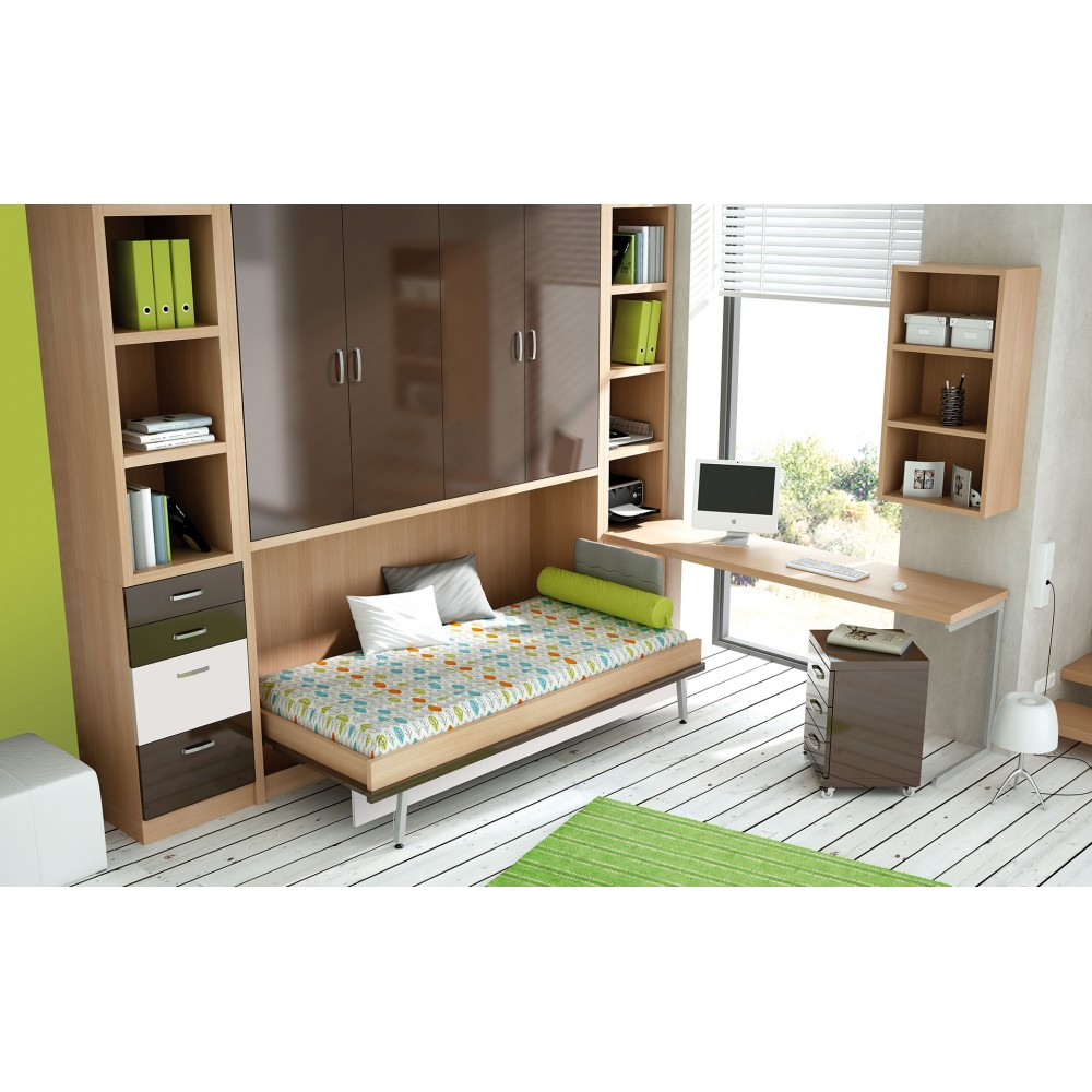 Muebles cama abatibles amazing cama abatible horizontal x for Amazing camas abatibles