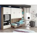Dormitorios con Camas Abatibles Verticales para Pladur