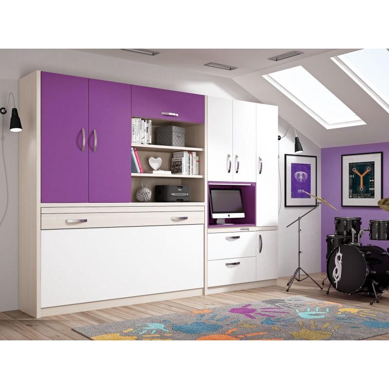 Comprar Camas Plegables Verticales Muebles En Madrid Juveniles - Camas-dobles-infantiles-para-espacios-reducidos