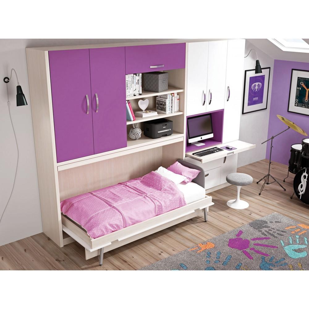 Comprar camas plegables verticales muebles en madrid - Cama para espacios reducidos ...