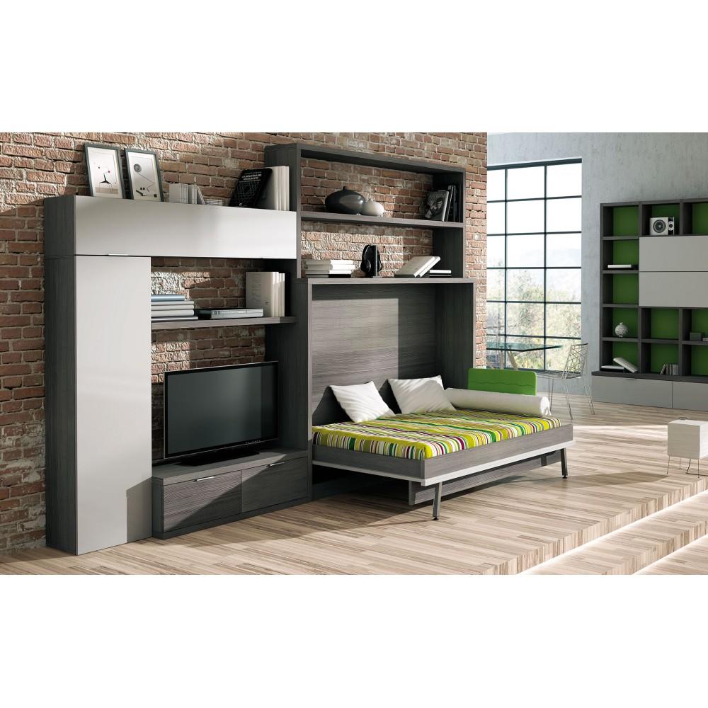 Dormitorios juveniles con camas el ctricas mueble cama - Dormitorios con cama abatible ...