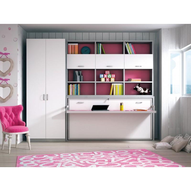 Abatibles horizontales camas plegables horizontales for Habitaciones para ninas con literas