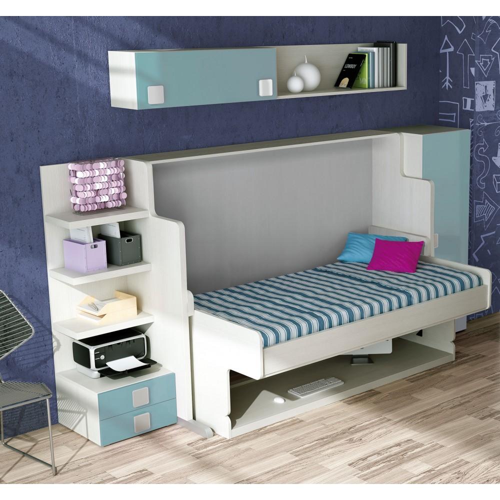 Abatibles camas horizontales para salones muebles cama - Dormitorios con cama abatible ...