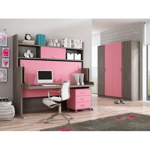 Dormitorios con Camas Abatibles Horizontales de 135