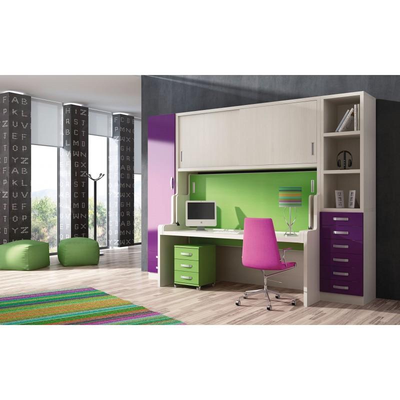 Dormitorios con Camas Abatibles Sentido Horizontal Metalicas