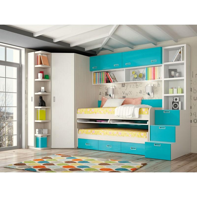 Dormitorios con Camas Abatibles Horizontales Altas