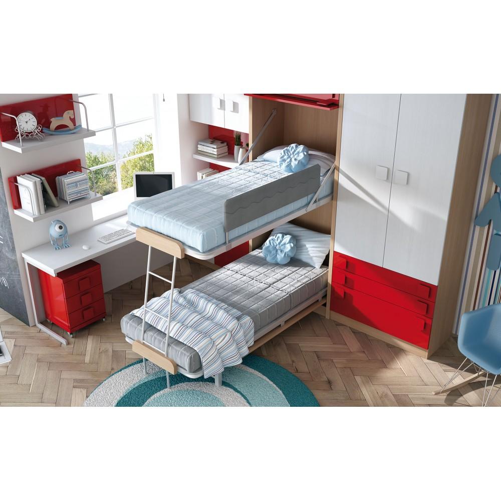 Dormitorios con literas abatibles horizontales - Dormitorios con literas ...