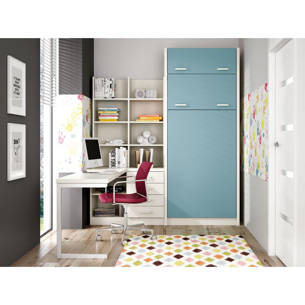 Dormitorios con literas abatibles sentido horizontal - Dormitorios con literas ...