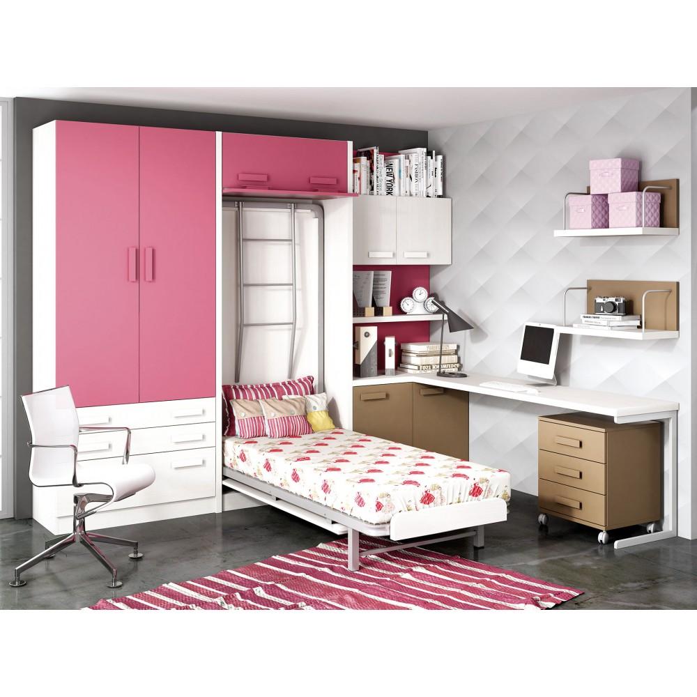 Dormitorios con literas abatibles alta calidad for Muebles juveniles de calidad