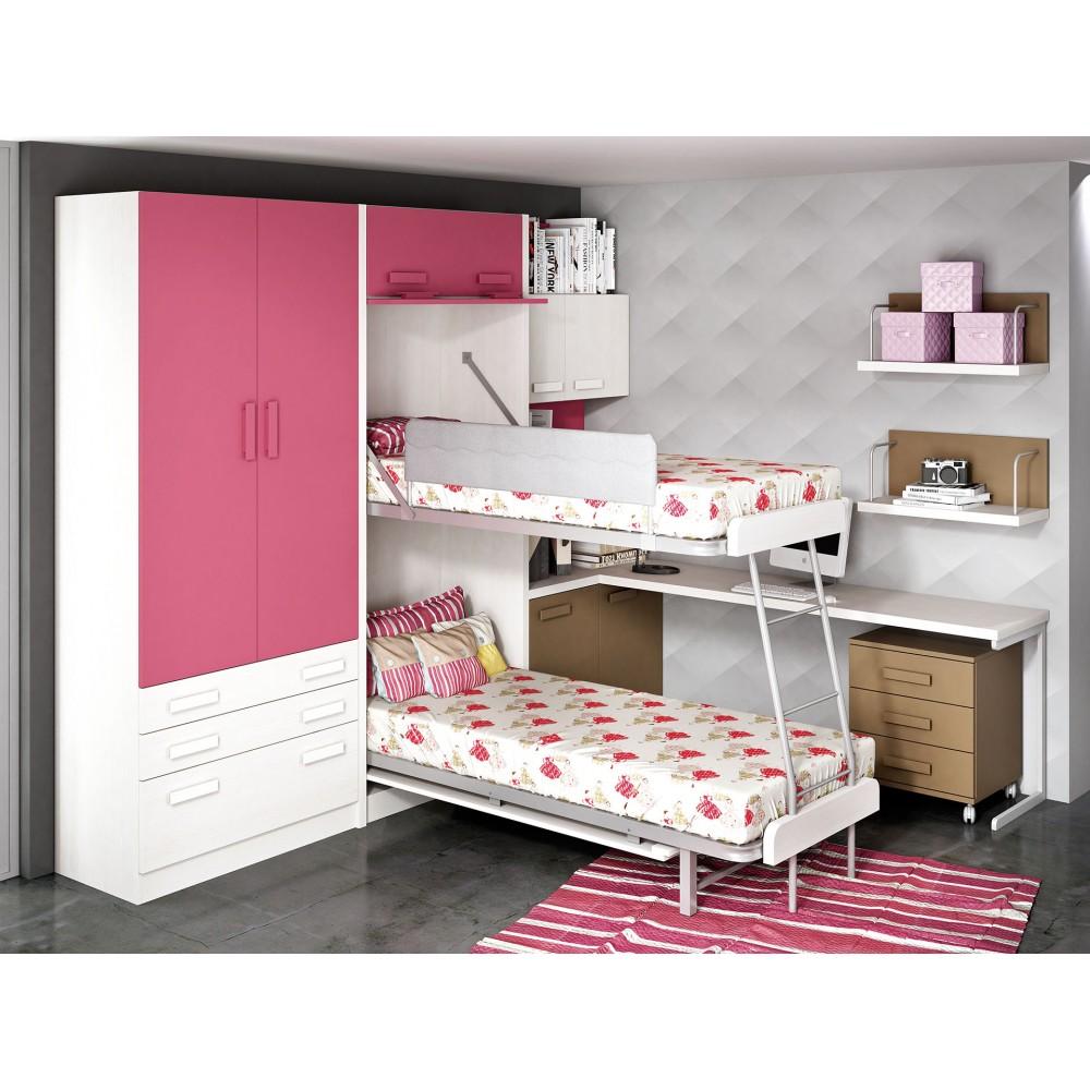 Dormitorios con literas abatibles alta calidad for Dormitorios juveniles literas