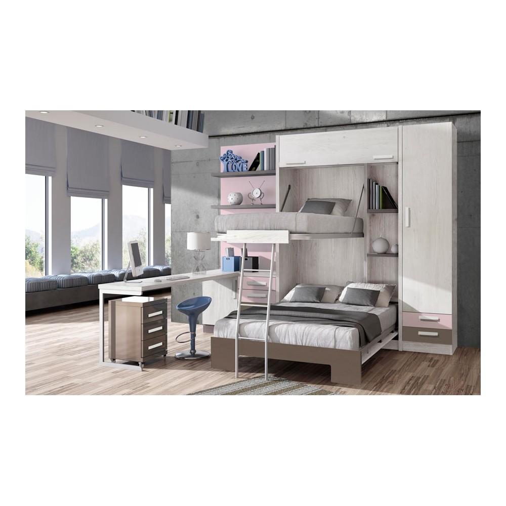 Dormitorios con literas abatibles para ni o y ni a for Cuartos de ninas con literas