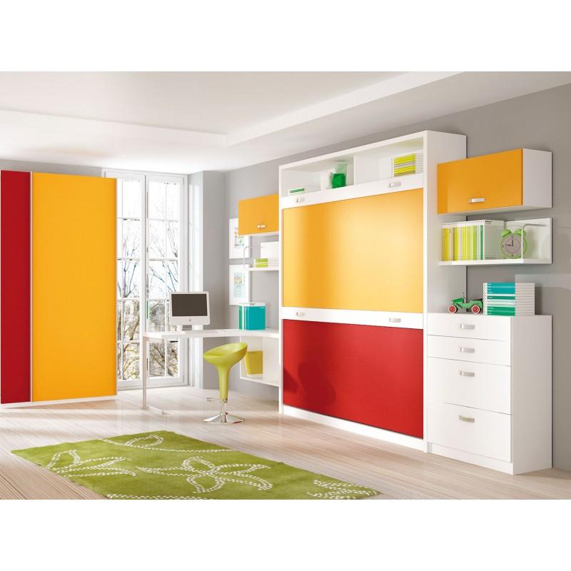 Dormitorios con literas abatibles verticales para chicas - Camas para chicas ...