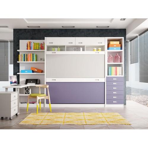 Dormitorios con Literas Abatibles Verticales Cuádruples