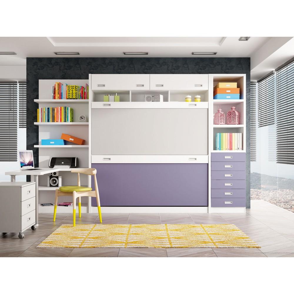 Dormitorios con literas abatibles verticales cuadruples for Dormitorios individuales