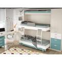 Dormitorios con Literas Abatibles sentido Horizontal de 90