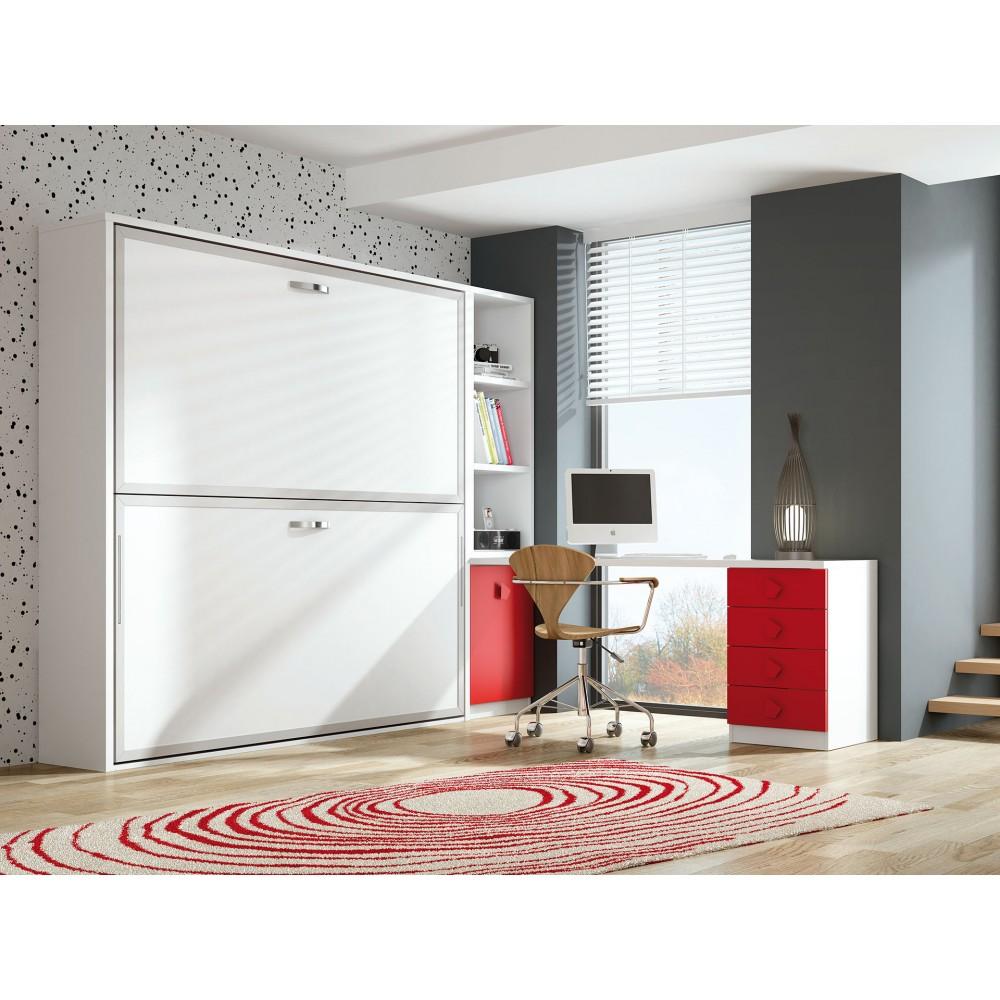 Dormitorios con literas abatibles horizontales de 80 for Dormitorios con literas