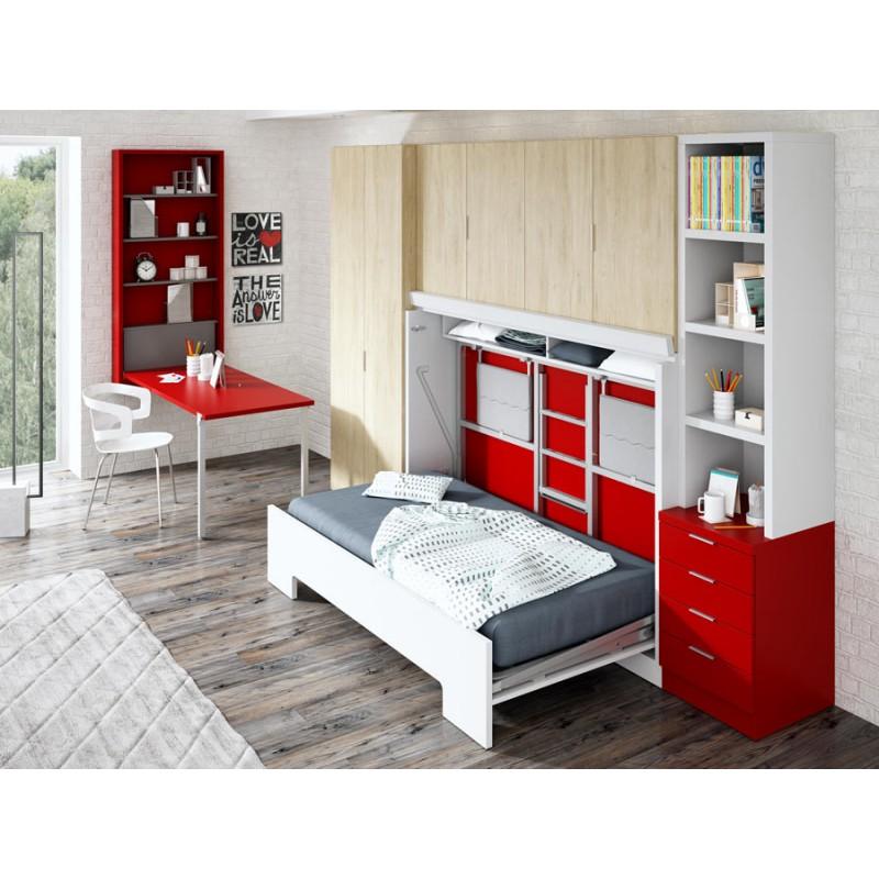 Dormitorio con liteas abatibles Roma