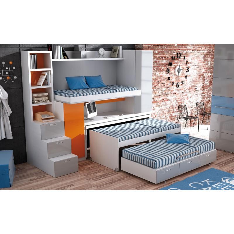 Dormitorio litera triple Toledo