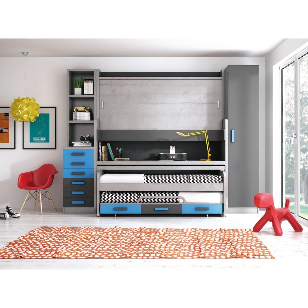 Dormitorio litera triple cuenca - Imagenes de literas juveniles ...