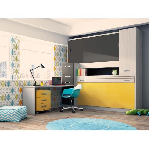 Dormitorio con literas escritorio raquel for Dormitorios con literas