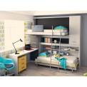 Dormitorio con literas escritorio Rosa
