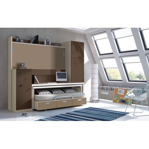 Dormitorio con literas escritorio Noelia