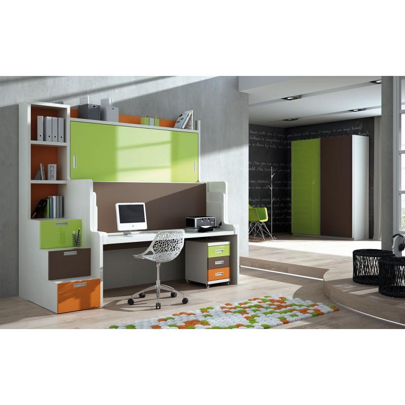 Dormitorio con literas escritorio Nuria