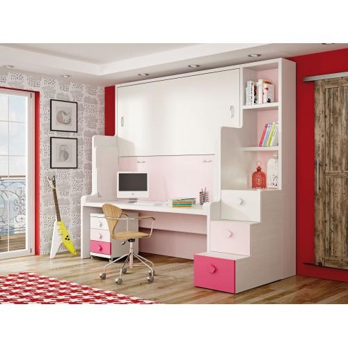 Dormitorio con literas escritorio Lola
