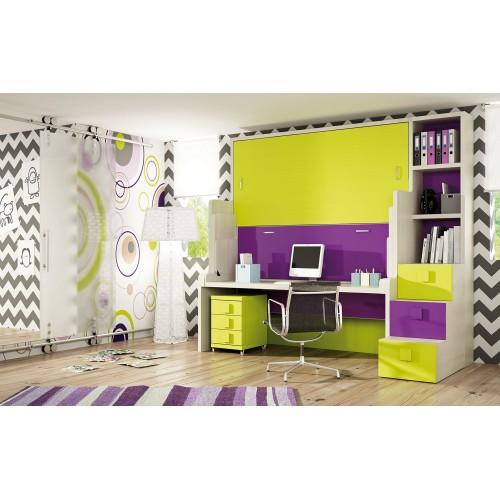 Dormitorio con literas escritorio Carmen