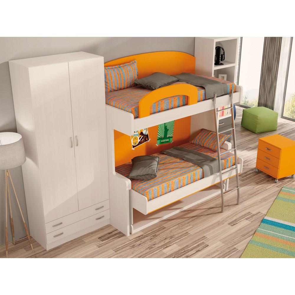 Dormitorio con literas escritorio marta - Escritorio dormitorio ...