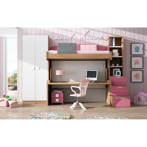 Dormitorio con literas escritorio Verónica