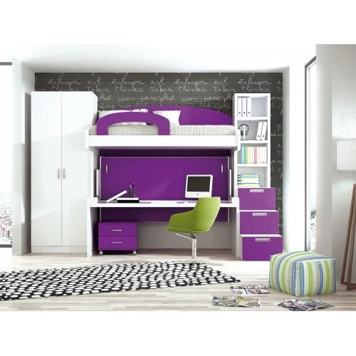 Dormitorio con literas escritorio Pilar