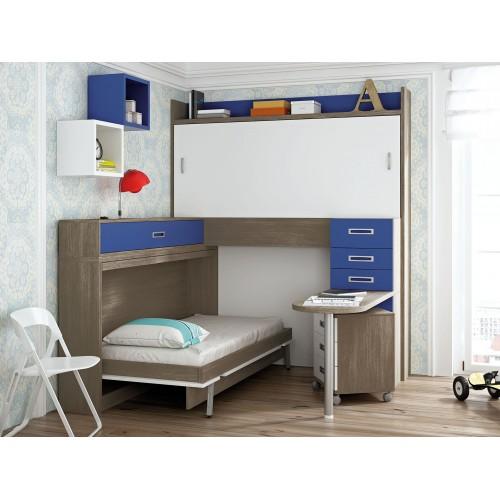 Dormitorio con literas escritorio Miriam