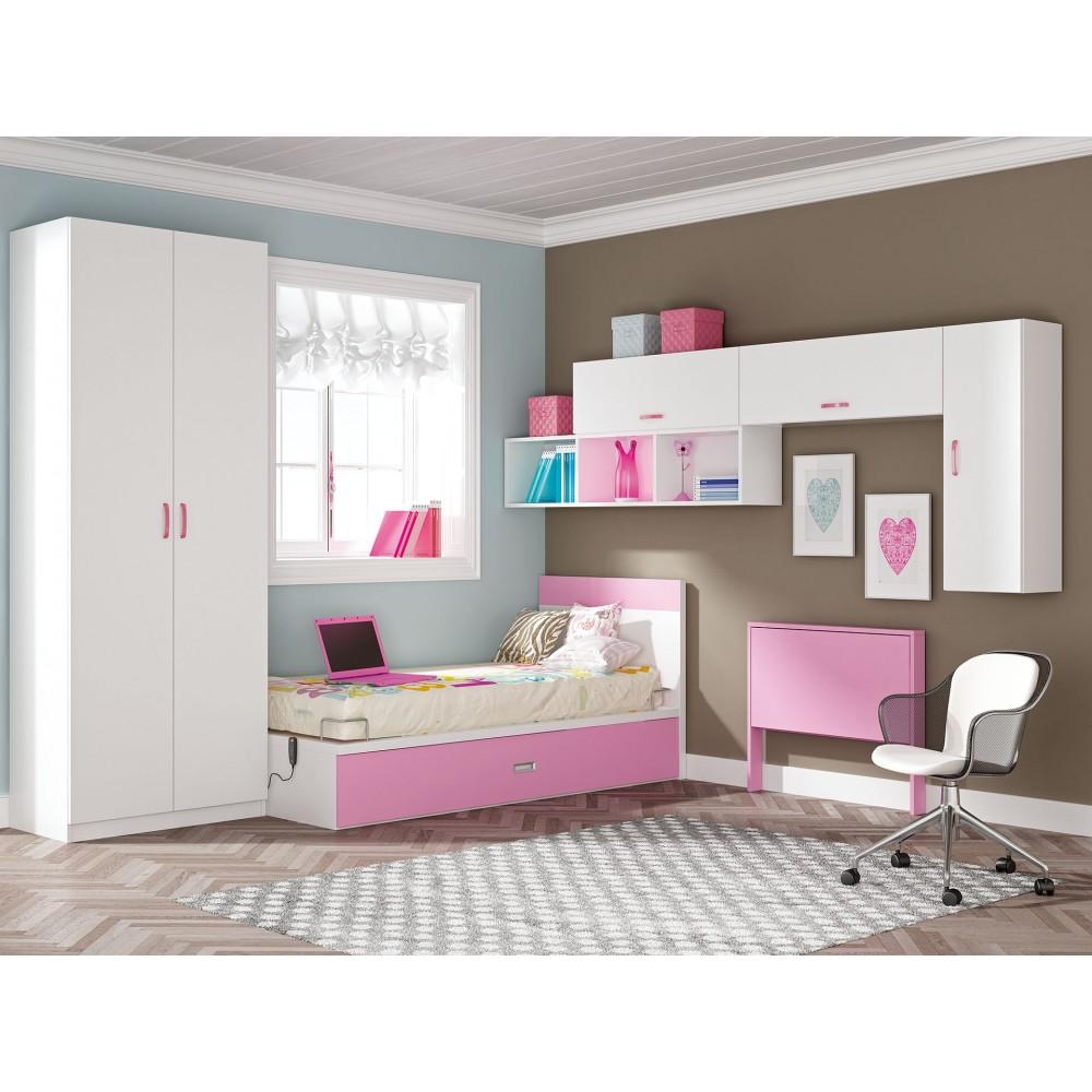 Dormitorio con cama nido alicante for Cama nido hipermueble