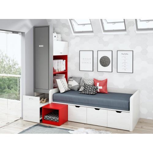 Dormitorio con cama nido Segovia