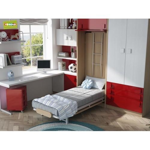 Dormitorios con Literas Abatibles Verticales con Tatami