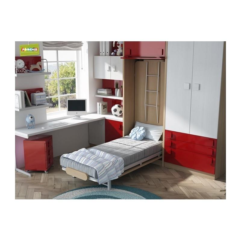 Dormitorios con literas abatibles verticales con tatami for Dormitorios con literas